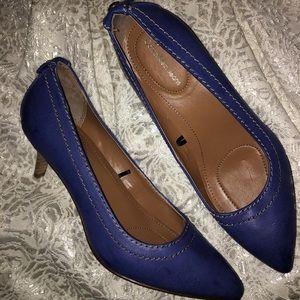 Calvin Klein Jeans Kaleigh Leather Slip On Pumps